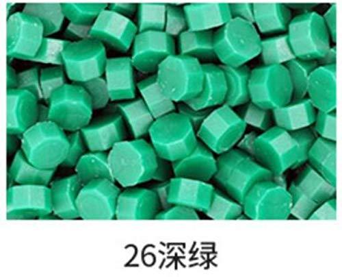 Nieuwe 6 kleuren retro zegellak tabletten kralen/deeltjes/strips van bronzing lakzegel oude zegellak 30g, 100-105 stuks in zak, kleur 23