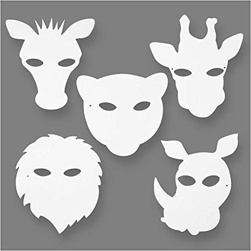 Dschungeltier Masken, H: 22,5-25 cm, 16 sort., 220 g