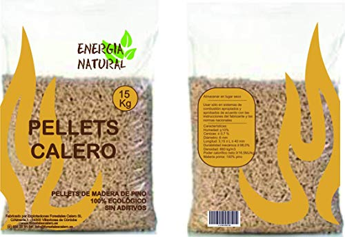 Saco de 15kg de Pellets de Pino ecológico 12,00