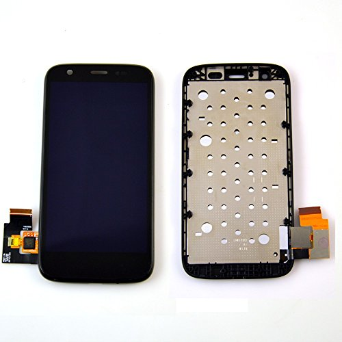 Motorola Moto G XT1032 LCD Display Schermo Vetro Digitizer Touch Screen Assemblato include Frame di Ricambio e Gratis Kit (Nero)
