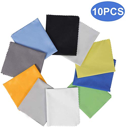 10 Pack Assorted Colors Microfiber Cleaning Cloths - 6