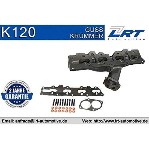LRT K120 Krümmer, Abgasanlage