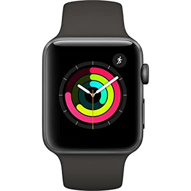 Apple Watch Series 3 (GPS) 42mm Smartwatch (Space Gray Aluminum Case, Gray Sport Band)