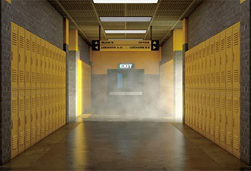 Leowefowa Gym Interior Foggy Passage Yellow Lockers Backdrop 10x6.5ft Fitness Club Company Corridor Vinyl Photography Background Personal Portrait Shoot Event Party Decor Studio Photo Props -  Leowefowas, Q6-3x2NBK30102