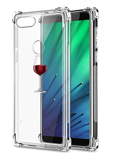 Oihxse Custodia compatibile con Xiaomi Redmi Note 7 Custodia Slim Fit Trasparente Trasparente con Cute Cartoon Design Back Cover, Morbido Silicone [Air Cushion] Antiurto TPU Bumper Skin