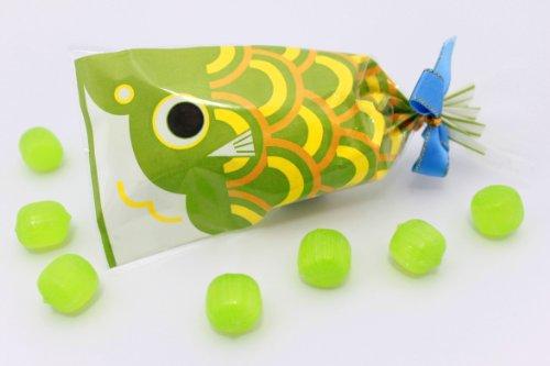 プチ 京 鯉のぼり 緑 メロン飴 1袋 7粒入り ブライダルver