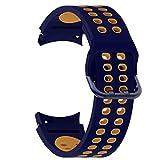 Cinturino compatibile con Samsung Galaxy Watch Active/Active 4, 40 mm, 44 mm, 20 mm, cinturino di ricambio in silicone sportivo per Galaxy Watch4 40 mm/44 mm/Classic 42 mm/Classic 46 mm