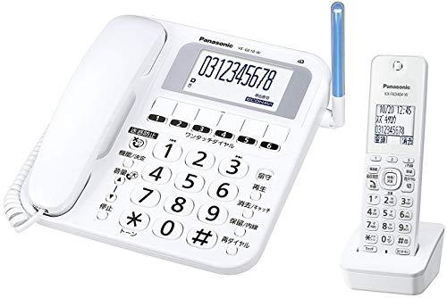 パナソニック コードレス電話機 子機1台付き ホワイト VE-GE10DL-W 1台