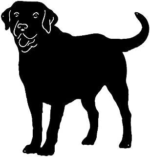 Garage Art Signs Labrador Retriever Dog Cut Out Wall Décor Silhouette Metal Sign 22x23