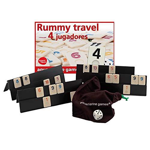 Aquamarine Games DO003 - Rummy De Viaje 4 Jugadores