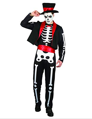 PARTY FIESTA Disfraz Mexican Skeleton Talla nica