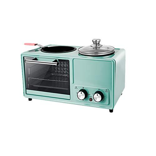 SSZZ Home Multifunktionale Frühstücksmaschine Vier in Einem Gebratenen Braten Automatische Elektrogerät Antihaft Leicht Zu Reinigen,Blau,A