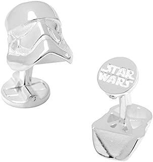 Star Wars Officially Licensed 3D Cufflinks, Silver