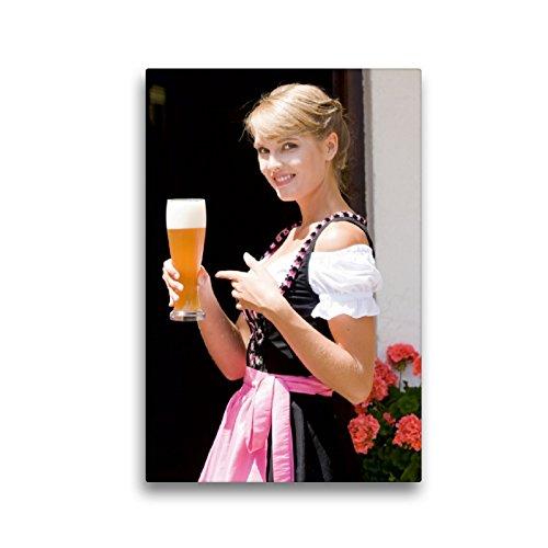 Premium Textil-Leinwand 30 x 45 cm Hoch-Format Dirndl und Tradition | Wandbild, HD-Bild auf Keilrahmen, Fertigbild auf hochwertigem Vlies, Leinwanddruck von STphotography