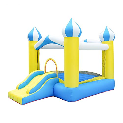 EXCLVEA Inflatable Bouncy Castle Small Inflatable Castle Children Playground Inflatable Trampoline Entertainment Trampoline for Courtyard Playground (Color : Yellow, Size : 340x250x230cm)