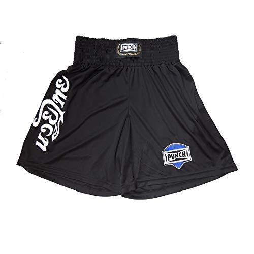 Shorts Muay Thai Com Silk Thai - Extra Grande Punch Unissex Gg Preto Com Branco