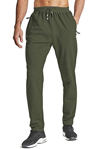 HOPATISEN Mens Lightweight Gym Trousers Fitness Training Trousers Open Hem Gym Breathable...