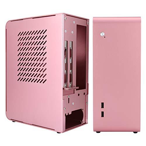 Mini Caja de computadora ITX, Caja de aleación de Aluminio Mini PC U110 con Interfaz 2 * USB3.0 para Placa Base ITX