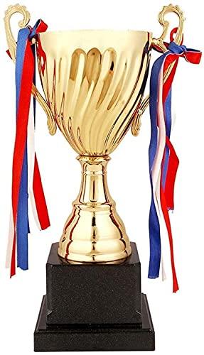 DHTOMC Trofeos Metal Trofeo Campeón Competencia Trofeo Fútbol Baloncesto Bádminton Estudiante Niños Premios de la competencia-Gold_2413cm