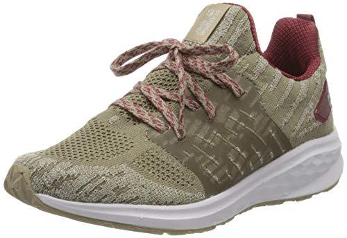 Jack Wolfskin Damen Coogee Knit Low W Sneaker, Beige (Sand/Auburn 5262), 39.5 EU