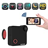 Mini Wireless WiFi Action Camera - Nanny cop Cam, Small Monitoring System Cameras to Cell Phone, Camaras for Home, Office, Car & Drone with Motion Detection & Night Mode