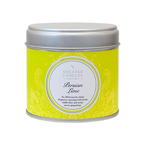 Shearer Candles Persian Lime Large Scented Silver Tin Candle - White