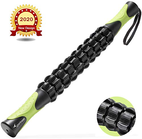 Sportneer Massageroller Muskel Roller Stick, Körpermassage-Stab-Werkzeuge, Rückenmassagegerät für Athleten gegen Muskelkater, Krämpfe und Verspannungen, lindernde Krämpfe