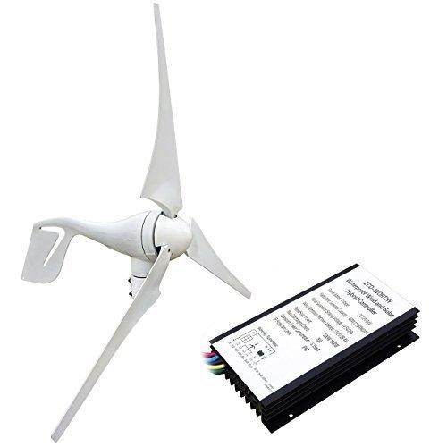 ECO-WORTHY 400Watt Windkraftanlage 12V / 24V Windgenerator Windkraftgenerator w/Hybird Controller Ideal zum Aufladen von 12V 24V Batterien