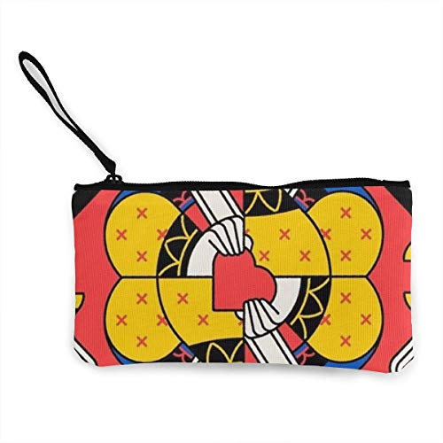 Unisex-Geldbörse, Funny Poker Canvas Geldbörse Mini Wallet Zipper Storage Bag