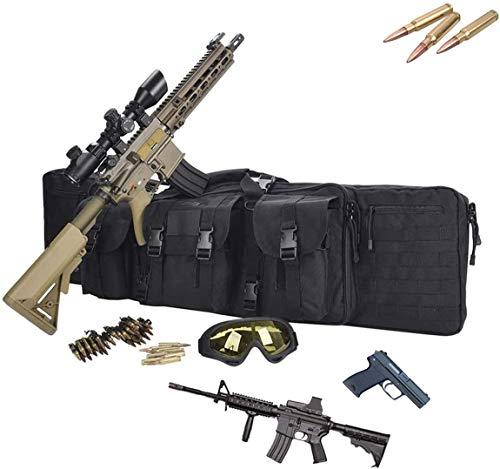 Caja de Rifle Media, Caja Suave de Pistola Multifuncional, Bolsa de Rifle de Arrastre, para Armas largas Tacaces tácticos al Aire Libre de carbina y Tiro a Prueba de Polvo,100cm/39.4in