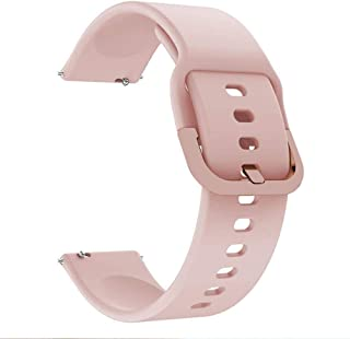 accessoryME Band Compatible with Samsung Galaxy Watch 4 / 4 Classic 42mm 46mm / 3 41mm, 20mm Sport Silicone Quick Release ...