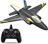 RC Plane - 2.4Ghz 4 Channels Remote Control Airplane Ready to Fly,RC Plane Built in 6-Axis Gyro,3D/6G Fly Modes RC Jet for Advanced Kids Adult,Entry Training Level RC Plane for Beginner