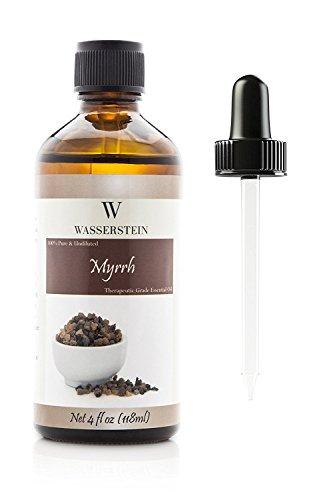 118 ml / 4 oz ätherisches Myrrhe Öl für Aromatherapie, 100% reines Basic Öl (Commiphora myrrha) von Wasserstein (4 Oz, Myrrhe)