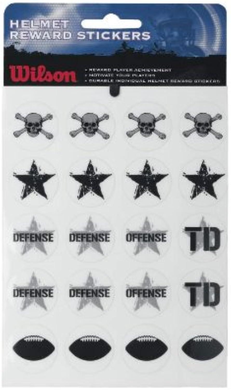 Wilson Helmet Reward Stickers (Black Grey, One Size Fits All)