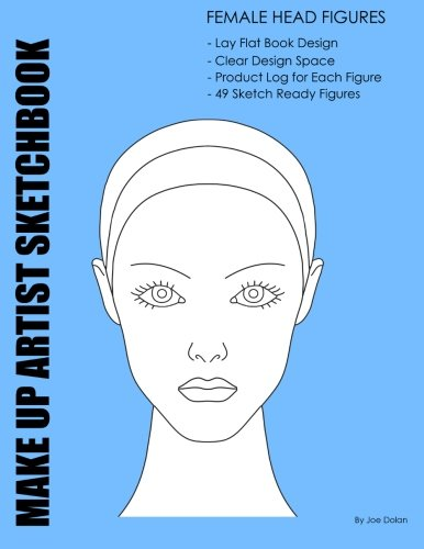 Make-Up Artist Sketchbook: Female Head Figures: Make-Up Artist Sketchbook With Product Log