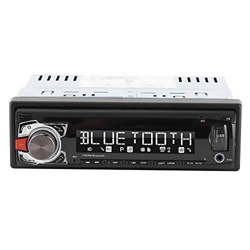 Coche Reproductor de audio USB Coche MP3 Vintage Bluetooth Radio FM Llamada manos libres Reproductor de MP3 In-Dash Vehículo 24 V (paneles extraíbles)(Panel fijo)