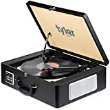 Tyler Bluetooth Briefcase Vinyl Record Player Classic Turntable Stereo...