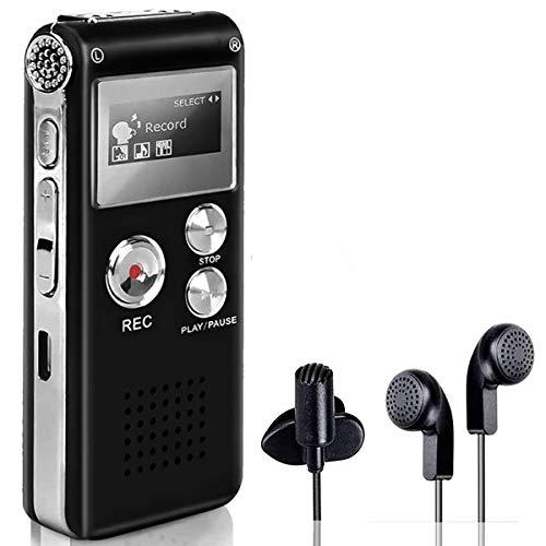 BIGFOX Grabadora de Voz Digital Portátil, Reproductor MP3 Sonido...
