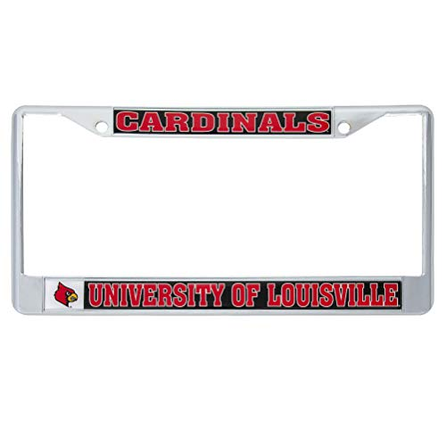 University of Louisville Cardinals Metal License Plate Frame for Front or Back of Car Officially Licensed (Mascot) C