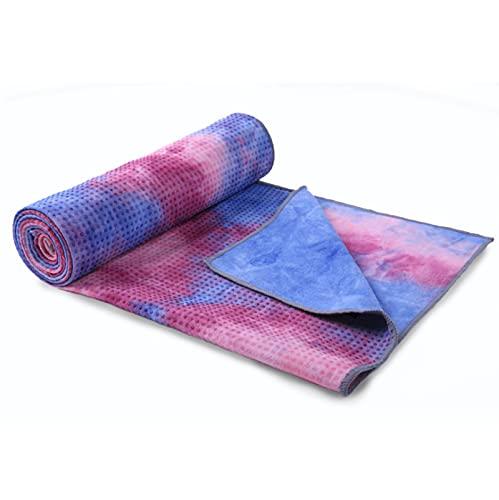 HFDJ Cortina de Yoga Manta de Yoga Tie-Dye Manta de Fitness Antideslizante Absorbente de Sudor Manta de Toalla Gruesa Manta de Esterilla Deportiva Toalla Plegable Manta de Yoga portátil Esterilla
