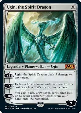 Magic: The Gathering - Ugin, The Spirit Dragon - Foil - Core Set 2021