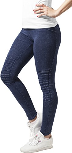 Urban Classics Damen Ladies Denim Jersey Leggings, Indigo, M
