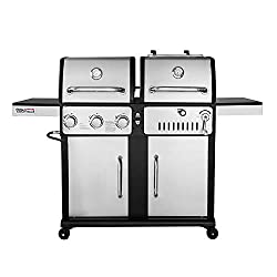 Royal Gourmet ZH3003S 3-Burner Gas and Charcoal Grill, Combo
