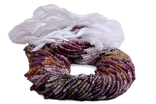 LOVEKUSH LKBEADS Tundru granat fasetterade pärlor 3,5 till 4,5 mm säljs per 14 tum Strand Code-HIGH-39120