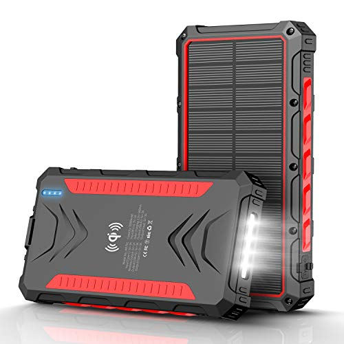 Targeted: Solar Power Bank 30,000mAh With Solar Charger And Flashlight For $11.99 From Amazon After $38 Off Via Stacking Discounts!