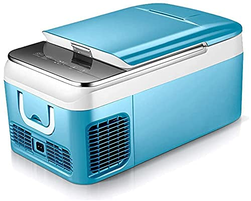 XBR 2021 Upgrade 18 Liter Mini Fridge- Portable Refrigerator Compact Refrigerator Electric Powered 12V/24V DC For Car, Boat, SUV, RV, Home,Blue