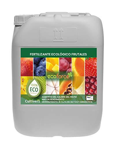 CULTIVERS Fertilizante Ecológico para Frutales Líquido de 20 L. Intensifica el Sabor y Aumenta el tamaño. Abono 100% Orgánico con Macronutrientes y Micronutrientes