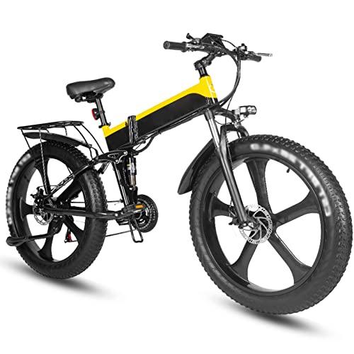 Bicicletta elettrica 1000W Bici da spiaggia elettrica 4.0 Fat Tire Bicicletta elettrica 48V Mens Mountain Bike Neve Bike 26 'Bicicletta (colore : B)