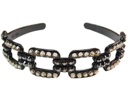 rougecaramel–Accesorios Cabello–Invernadero cabeza/Headband En Cristales De Swarovski–gris