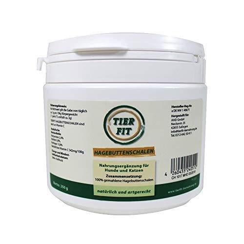 TierFit Hagebuttenschalen 500 g getrocknet und gemahlen zur Fleischfütterung Vitamin-C-Lieferant Antioxidans Barf